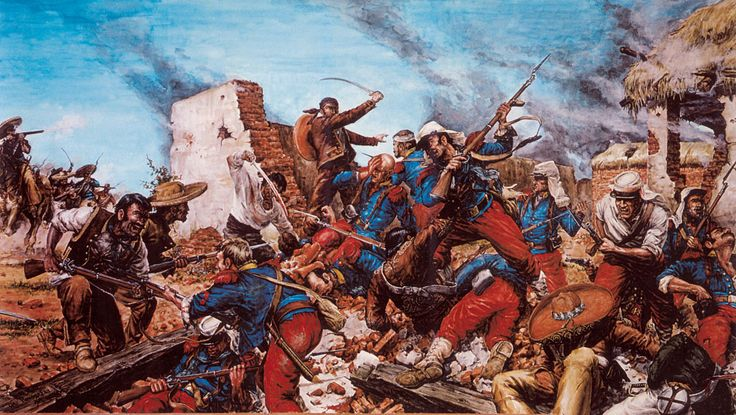 The Battle of Camarón  which occurred on 30 April 1863 between the French Foreign Legion and the Mexican army, is regarded as a defining moment in the Foreign Legion's history. Apatrol, led by Captain Jean Danjou and Lieutenants Clément Maudet and Jean Vilain, numbering just 65 men was attacked and besieged by a force that may have reached 3,000 Mexican infantry and cavalry, and was forced to make a defensive stand at the nearby Hacienda Camarón,  The Legion did not surrender.