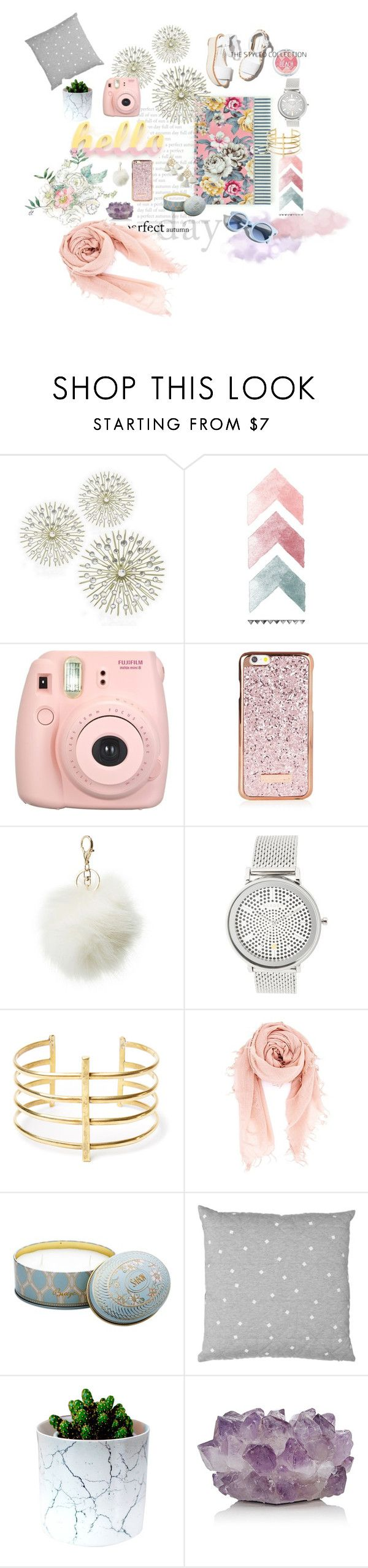 """Blush babe"" by iwona-estera on Polyvore featuring beauty, Pinko, Paloma Barceló, Fujifilm, Charlotte Russe, Skagen, BauXo, Chan Luu, McCoy Design and Marte Frisnes"