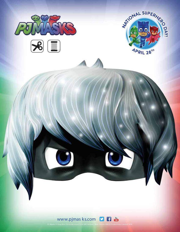 PJ Masks Party Printables Luna Girl Mask for FREE via Mandy's Party Printables