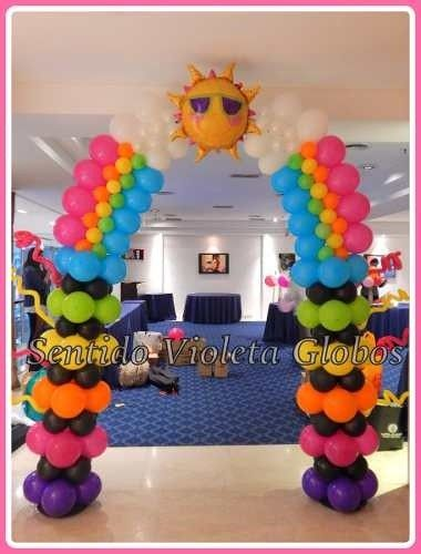 M s de 25 ideas incre bles sobre globos de arco iris en - Llenar globos con helio ...