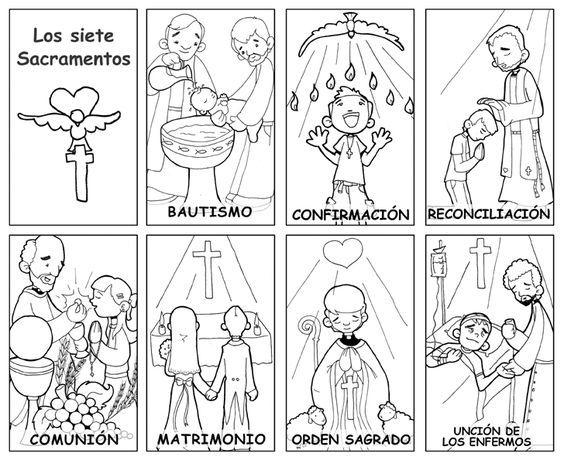Dibujos para catequesis: LOS SACRAMENTOS