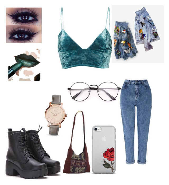 """My style"" by gee-mari3 on Polyvore featuring Fleur du Mal, Miss Selfridge and FOSSIL"