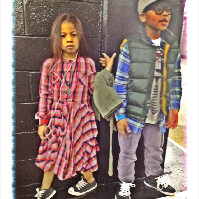#StyledByJune My mini me Fashion Dossier: Marc Jacobs Dress,Jack Purcell flannel Sneakers,Vintage Necklaces: Dressed Kids, Mini Me S Styled, Flannel Sneakers Vintage, Fly Kids, Purcell Flannel, Kiddie Style