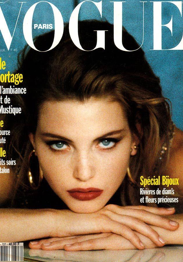 Nadja Auermann by Sheila Metzner Vogue Paris June July 1992