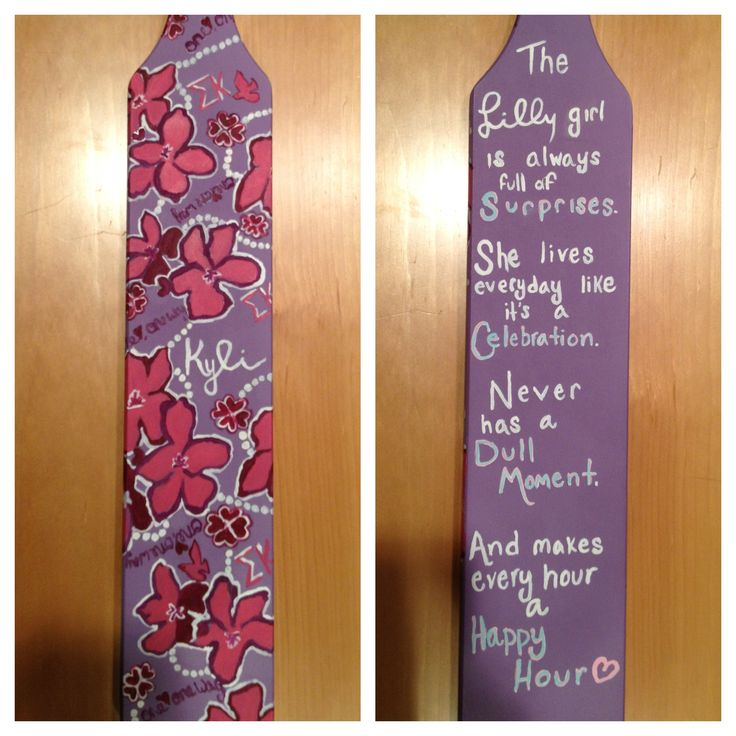 84 Best Paddle Ideas Images On Pinterest Sorority Crafts