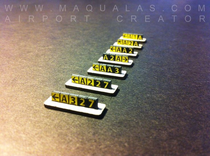 MAQUALAS Scale 1:500 Airport GSE, TAXI SIGNS #MAQUALAS