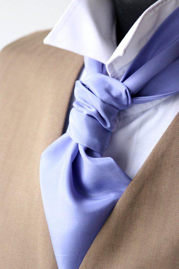 Men S Wedding Cravat Ascot Mens Tie Purple Violet Silk Day 016 Gift For Him