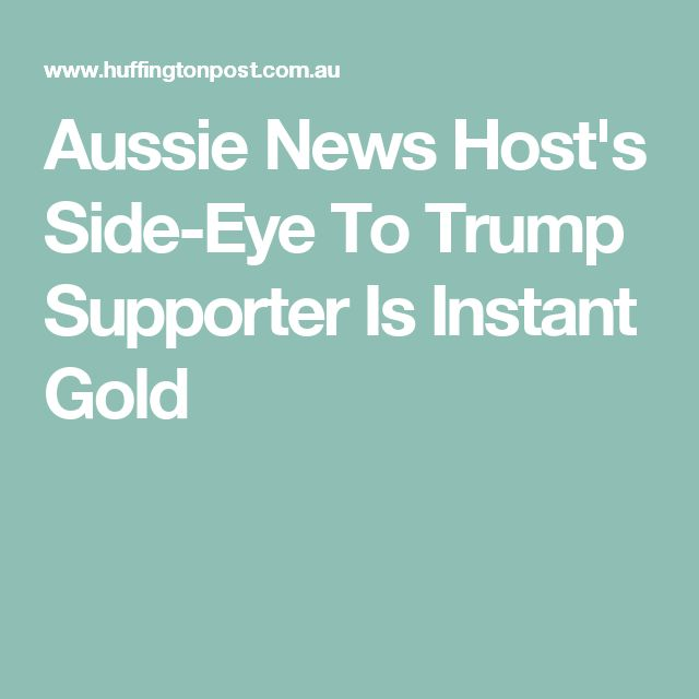 Aussie News Host's Side-Eye To Trump Supporter Is Instant Gold