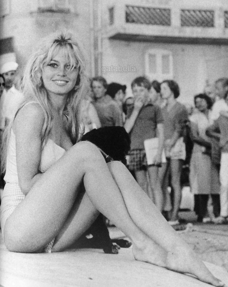 Brigitte Bardot in St. Tropez, 1950s.