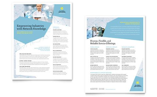 Global Network Services Datasheet Template by @StockLayouts