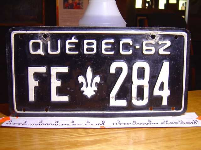 Drew's PLATESTAND - Quebec license plates for sale