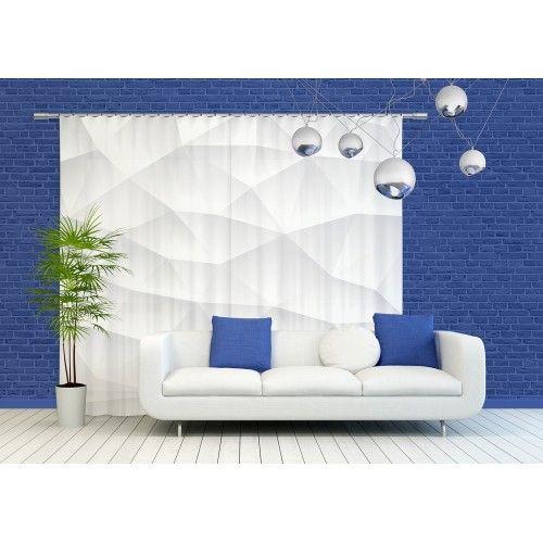 Kreatív fehér dekorfüggöny
