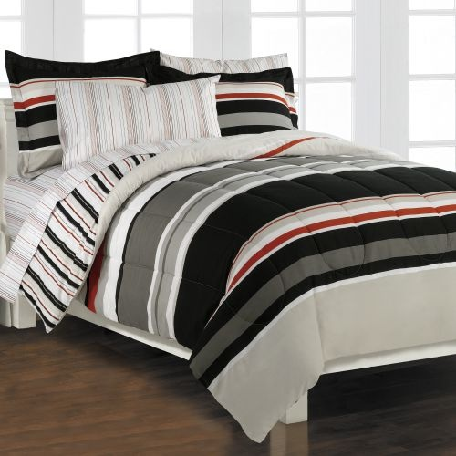 gray black and red bedding mason 39 s room pinterest. Black Bedroom Furniture Sets. Home Design Ideas