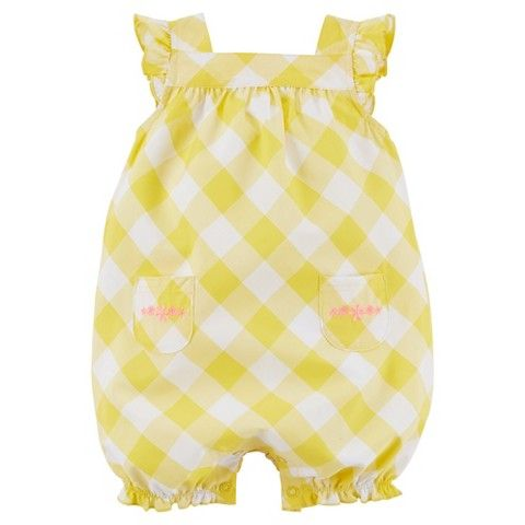Just One You™Made by Carter's® Newborn Girls' Gingham Romper - Yellow