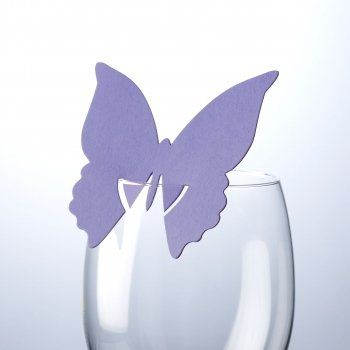CSC Imports Butterfly Place Card on Glass - Lilac 10 Pack: Amazon.co.uk: Kitchen & Home