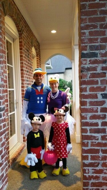 A Disney family. Daisy, Donald, Mickey and Minnie 2015.