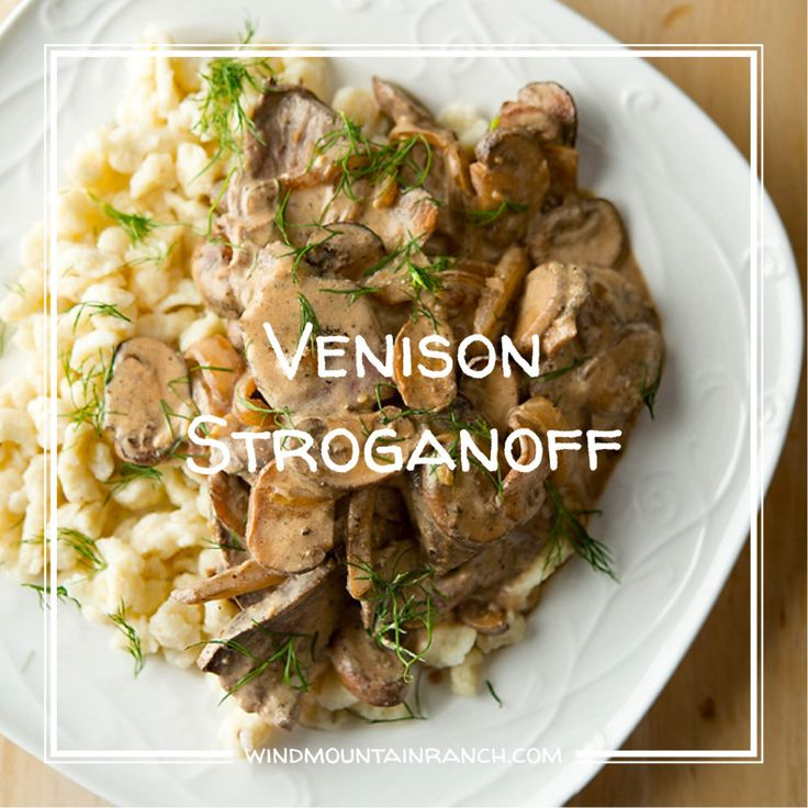 Up on the blog today, I found a delicious Venison Stroganoff recipe! http://windmountainranch.com/venison-stroganoff/  What is your favorite venison recipe? @huntergathercook #venisonstroganoff #heartymeal #backwoodscooking #cabinfever #thecabins #cabinsatwindnountainranch #windmountainranch