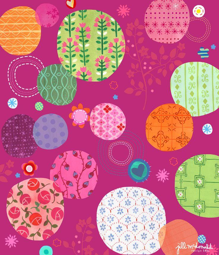 Patterned Dots Print by Jill McDonald Design