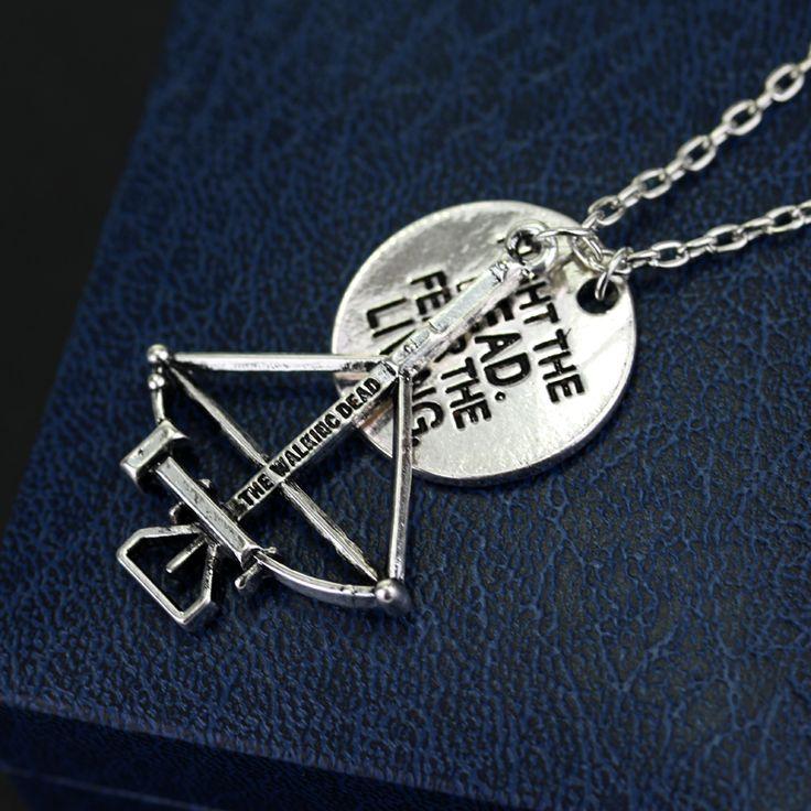New Design 2 pendant The Walking Dead Necklace Crossbow Pendant Necklace with FIGHT THE DEAD FEAR THE LIVING♦️ B E S T Online Marketplace - SaleVenue ♦️👉🏿 http://www.salevenue.co.uk/products/new-design-2-pendant-the-walking-dead-necklace-crossbow-pendant-necklace-with-fight-the-dead-fear-the-living/ US $1.20