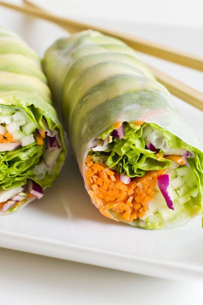 Rollitos de primavera spring rolls diet light health