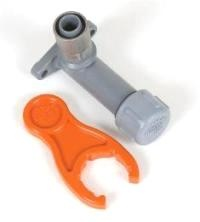 """Buteline BLE70 Lugged Elbow (1/2""""BSPT x 15mm x 70mm) includes test cap and palm spanner. Also available in 100mm length."""