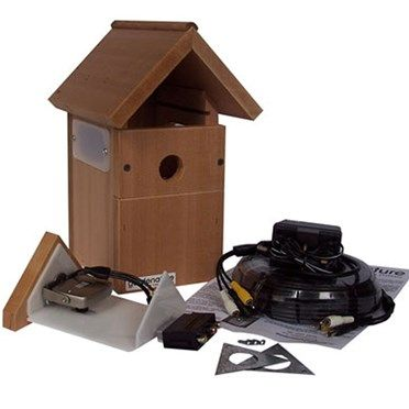 Wired Nest Cam Bird Box 1947D This wired nestcam box is an easy to assemble kit including 30 metres of wire, a high resolution colour camera with adjustable focus and microphone that is easy to fit to the television, and an attrac http://www.MightGet.com/january-2017-13/unbranded-wired-nest-cam-bird-box-1947d.asp