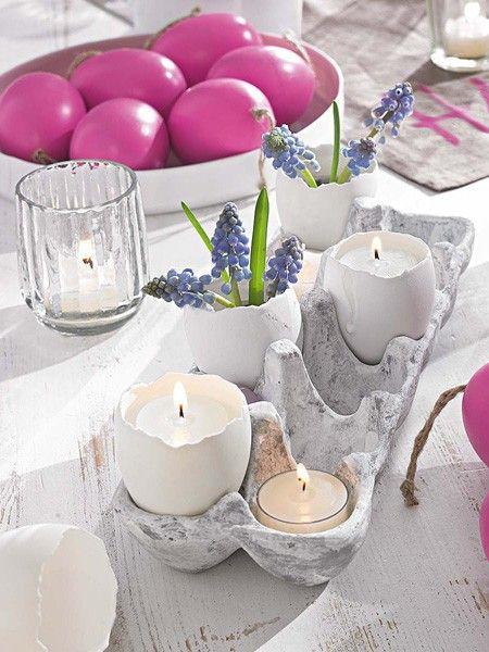 Da werfen sich selbst Kerzen in Schale! Hier geht's zur Deko-Idee >>