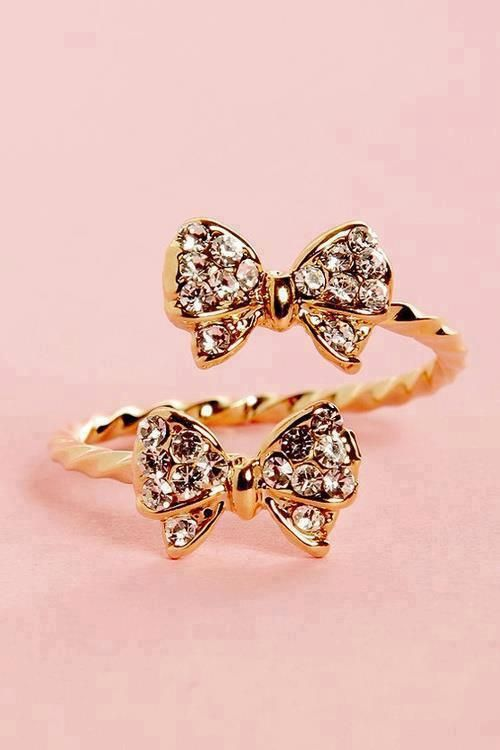 i love bows and rings but the two together its just perfection!