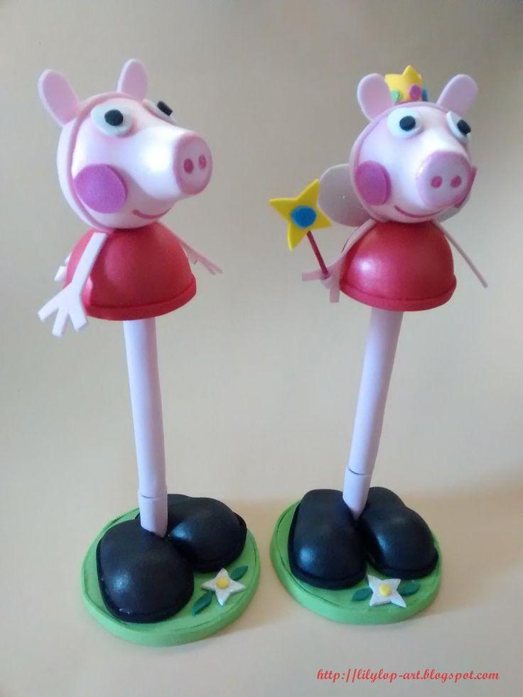 Peppa Pig de goma eva estilo fofuchas
