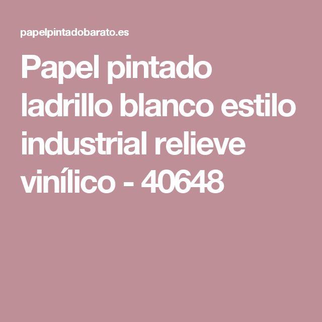 Papel pintado ladrillo blanco estilo industrial relieve vinílico - 40648
