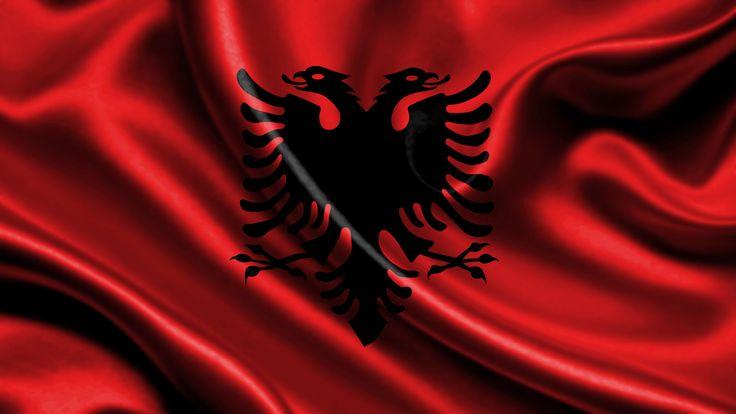 albanien flagge im Albanien Reiseführer http://www.abenteurer.net/2761-albanien-reisefuehrer/
