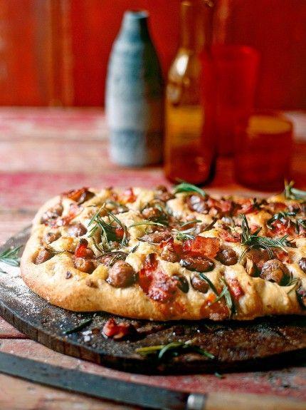 Chestnut, rosemary & pancetta focaccia | Jamie Oliver