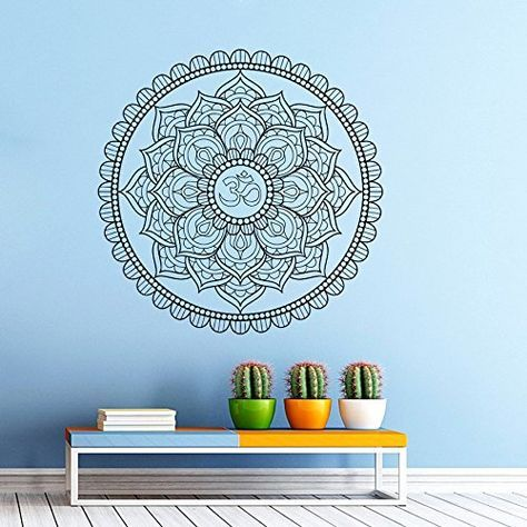 Wall Decals Mandala Ornament Indian Geometric Moroccan Pattern Yoga Namaste Flower Om Bedroom Vinyl Sticker Wall Decor Murals Wall Decal: Amazon.co.uk: Kitchen & Home