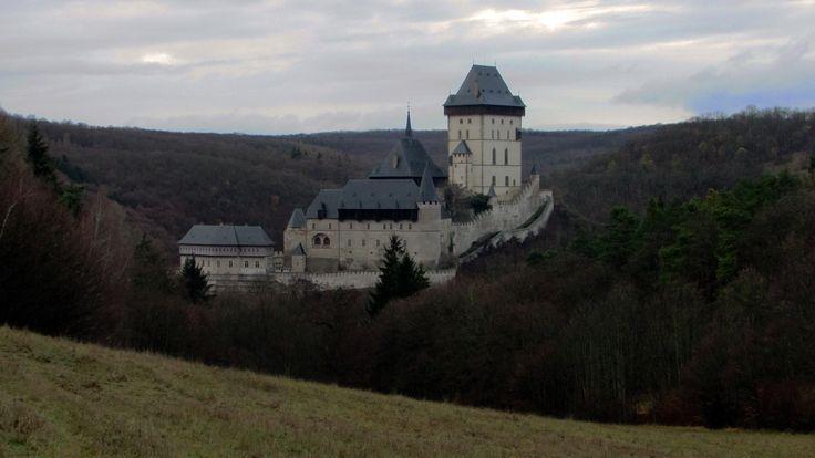Karlstejn Castle in winter season