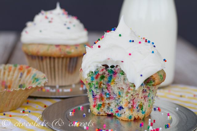 Light Funfetti Cupcakes for Two