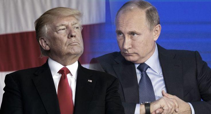 President Donald Trump and russian President Vladimir Putin. (Photo illustration: Yahoo News; photos: Evan Vucci/AP, Alexander Zemlianichenko, pool/AP)