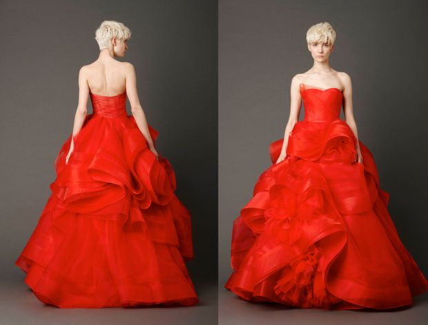Tuesday Top 10 Red Wedding Dresses | OMG I'm Getting Married UK Wedding Blog | UK Wedding Design and Inspiration for the fabulous and fashion forward bride to be.