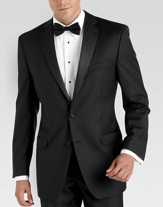 Calvin Klein Black Modern Fit Tuxedo - Tuxedos | Men's Wearhouse