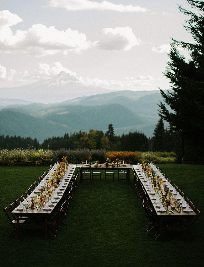 Oregon Wedding with a U-shaped table