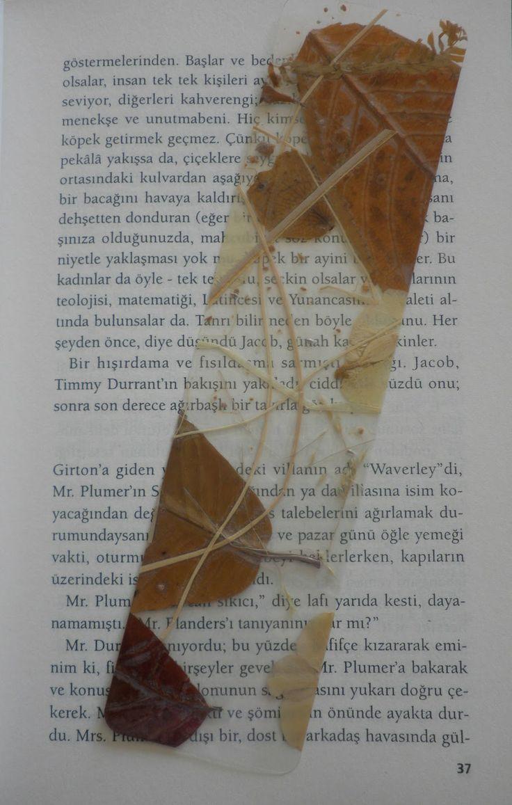 Marca páginas hojas de otoño   -   Autumn Leaves Bookmarker                                                                                                                                                                                 Más