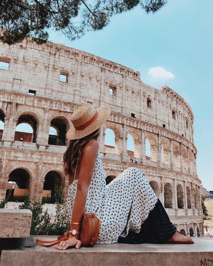 Alexandra Pereira at The Colosseum in Rome
