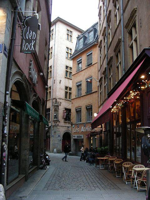 Lyon - Rue Merciere - my favourite street with my favourite pub in my favourite city