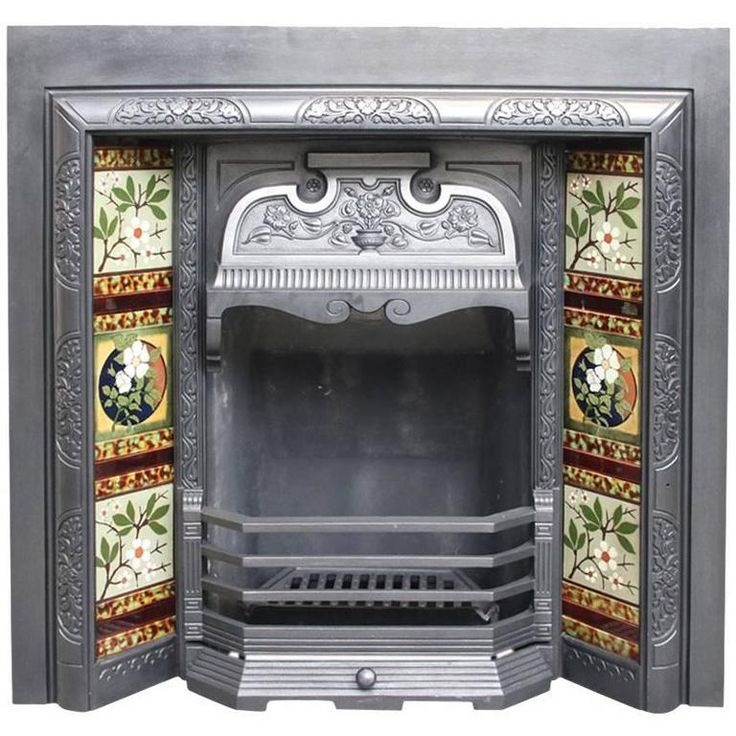 Reclaimed Late Victorian Cast Iron Fireplace Insert   From a unique collection of antique and modern fireplace tools and chimney pots at https://www.1stdibs.com/furniture/building-garden/fireplace-tools-chimney-pots/