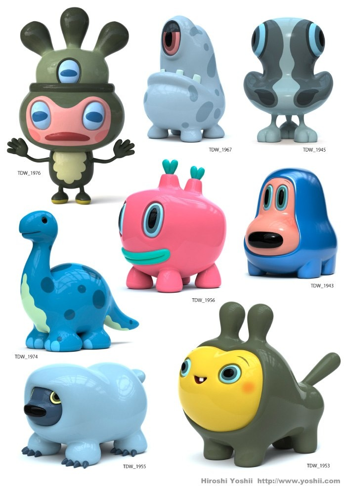 by Hiroshi Yoshii    I need to start making my little clay critters again. <3