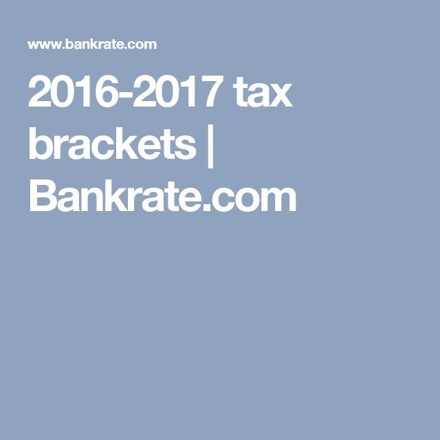 2016-2017 tax brackets | Bankrate.com