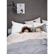 Tinne en Mia Graphique Dekbedovertrek Zilver - 140 x 220 cm