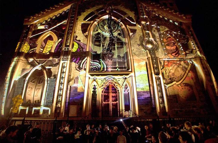 Best Projection Mapping Images On Pinterest Projection - Projection mapping turns chapel into stunning work of contemporary art