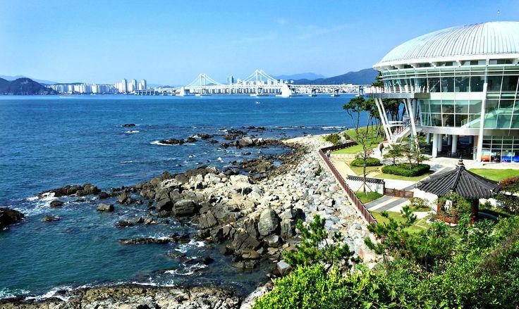 The view from APEC House to the Gwangandaegyo Bridge
