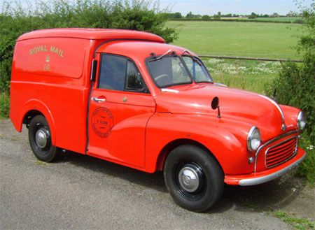 Morris Minor Royal Mail van from the 1950s