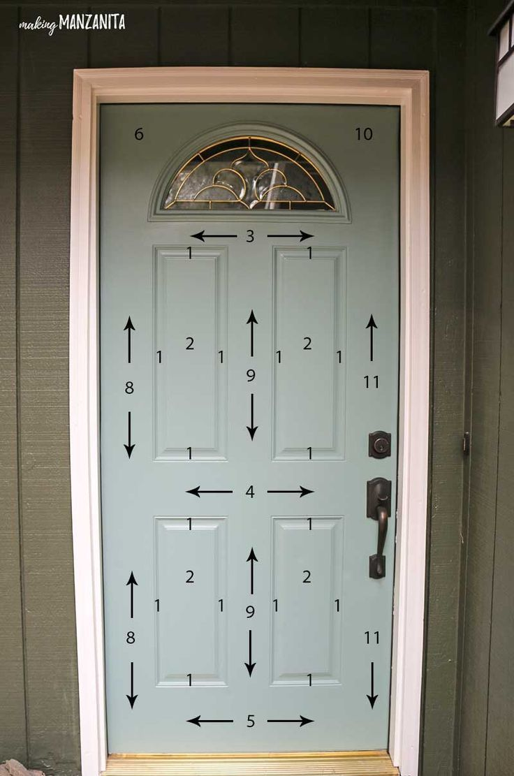 The Correct Order Of How To Paint A Door Simple Easy Diy Tutorial With Awesome Tips With Front Door Paint Colors Painted Front Doors Painted Exterior Doors